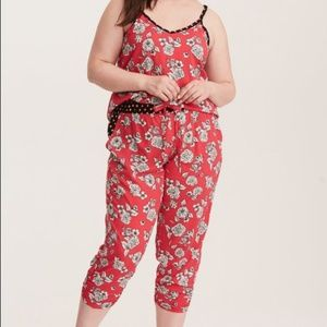 Torrid floral sleep tank and cropped bottoms 2